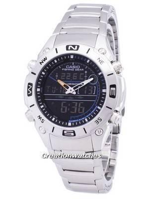 Casio Analog Digital Fishing Gear World Time AMW-703D-1AVDF AMW-703D-1AV Men's Watch