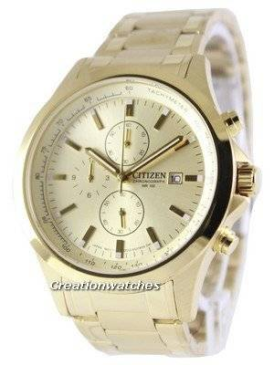 Citizen Chronograph Gold Dial Quartz AN3512-54P Men's Watch