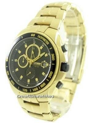 Citizen Chronograph Tachymeter AN4012-51E AN4012 Gold Tone Men's Watch