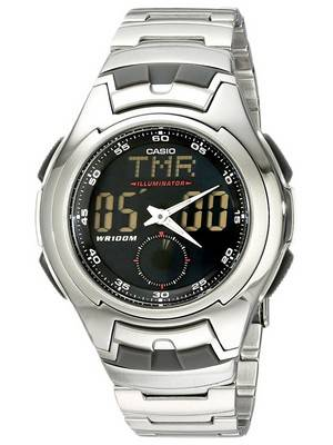 Casio Analog Digital Classic Illuminator AQ-160WD-1BVDF AQ-160WD-1BV Men's Watch