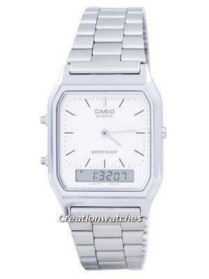 Casio Vintage Dual Time Alarm Quartz Analog Digital AQ-230A-7DMQ AQ230A-7DMQ Men's Watch