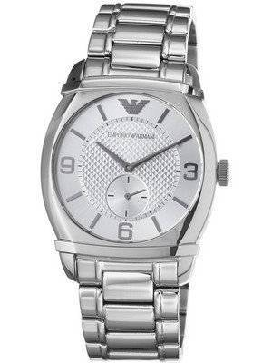 Emporio Armani Classic Silver Textured Dial AR0339 Men's Watch