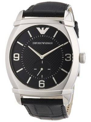 Emporio Armani Classic Black Textured Dial AR0342 Men's Watch