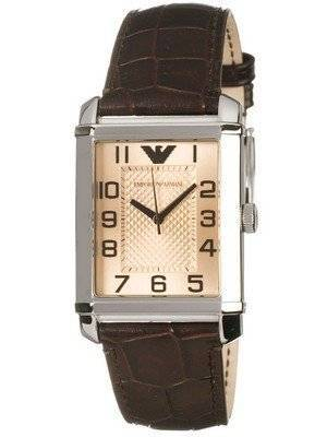 Emporio Armani Classic Champagne Rectangular Dial AR0491 Women's Watch