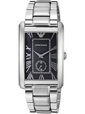 Emporio Armani Classic Rectangle Shape Black Dial AR1608 Men's Watch