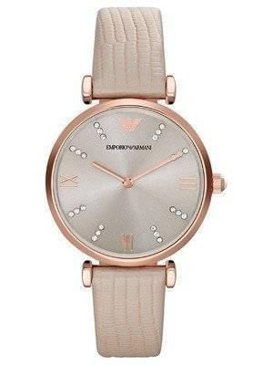 Emporio Armani Classic Retro Quartz Diamond Accent AR1681 Women's Watch