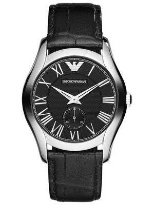 Emporio Armani Classic Black Dial Black Leather AR1708 Men's Watch