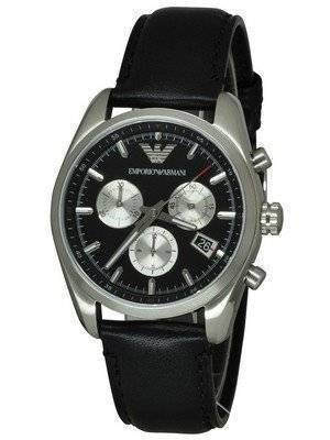 Emporio Armani Sportivo Chronograph Black Dial AR6009 Men's Watch