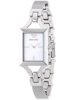 Emporio Armani Quartz Classic White And Silver AR7374 Ladies Watch