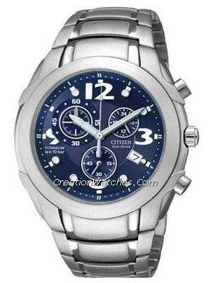 Citizen Gent's Eco Drive Titanium Chronograph Watch AT0351-51L