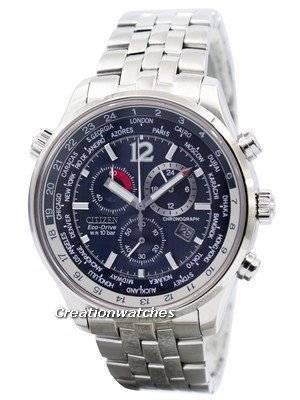 Citizen Eco Drive Chronograph World Time AT0360-50L AT0360 Men's Watch