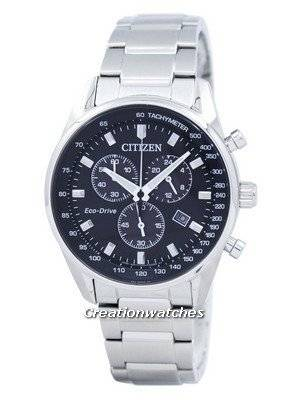 Citizen Eco-Drive Chronograph Tachymeter AT2390-58E Men's Watch