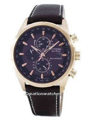 Citizen Eco-Drive Radio Controlled Chronograph World Time AT8019-02W Men's Watch