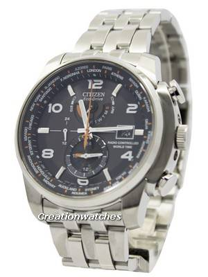 Citizen Eco-Drive Atomic Radio Controlled World Time AT9010-52E Men's Watch