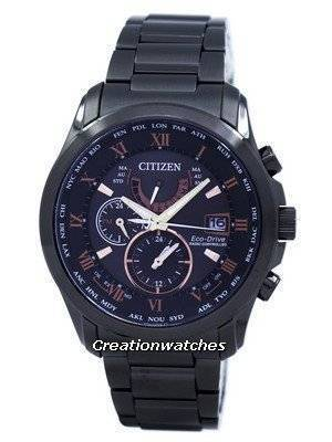 Citizen Eco-Drive Radio Controlled Perpetual Calendar World Time AT9085-53E Men's Watch
