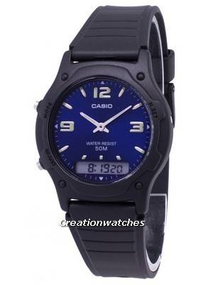 Casio Analog Digital Quartz Dual Time AW-49HE-2AVDF AW49HE-2AVDF Men's Watch