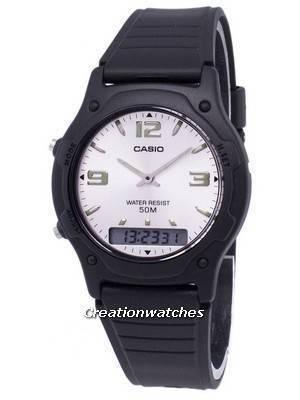 Casio Analog Digital Quartz Dual Time AW-49HE-7AVDF AW-49HE-7AV Men's Watch