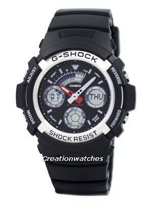 Casio G-shock Analog Digital World Time AW-590-1ADR AW590-1ADR Men's Watch