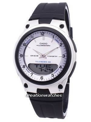 Casio Analog Digital Telememo Illuminator AW-80-7AVDF AW80-7AVDF Men's Watch
