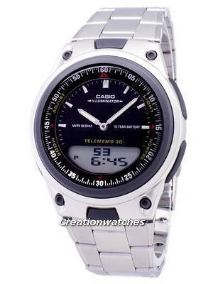 Casio Analog Digital Telememo Illuminator AW-80D-1AVDF AW-80D-1AV Men's Watch