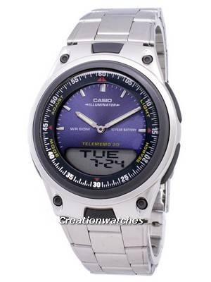 Casio Analog Digital Telememo Illuminator AW-80D-2AVDF AW-80D-2AV Men's Watch