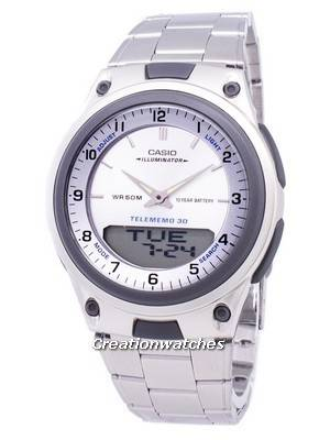 Casio Analog Digital Telememo Illuminator AW-80D-7AVDF AW-80D-7AV Men's Watch