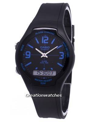 Casio Analog Digital Dual Time AW-90H-2BVDF AW-90H-2BV Men's Watch