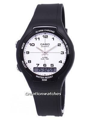 Casio Analog Digital Dual Time AW-90H-7BVDF AW-90H-7BV Men's Watch