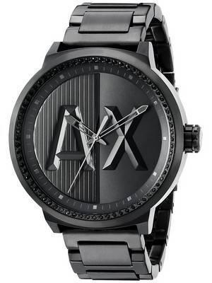 Armani Exchange ATLC Black Crystals Quartz AX1365 Men's Watch