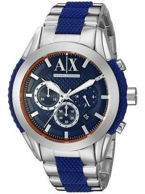 Armani Exchange Quartz Chronograph Blue Dial AX1386 Men's Watch