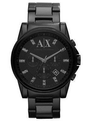 Armani Exchange Chronograph Crystals Black Dial AX2093 Men's Watch