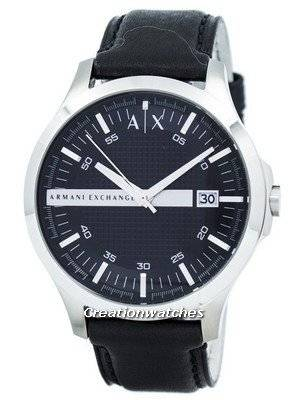 Armani Exchange Black Dial Leather Strap AX2101 Men's Watch