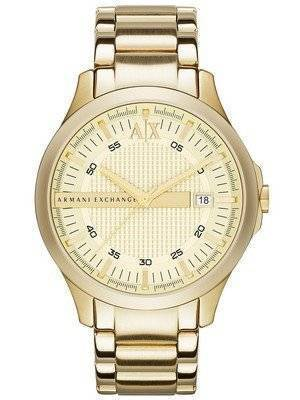 Armani Exchange Gold Tone Champagne Dial AX2131 Men's Watch