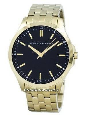 Armani Exchange Quartz Black Dial Gold Tone Stainless Steel AX2145 Men's Watch