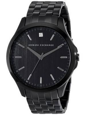 Armani Exchange Black PVD Diamond Accent Quartz AX2159 Men's Watch