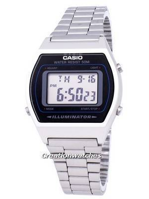 Casio Digital Quartz Stainless Steel Illuminator B640WD-1AVDF B640WD-1AV Men's Watch