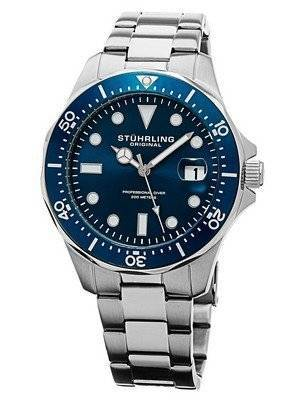 Stuhrling Original Regatta Swiss Quartz Divers 200M 824.02 Men's Watch