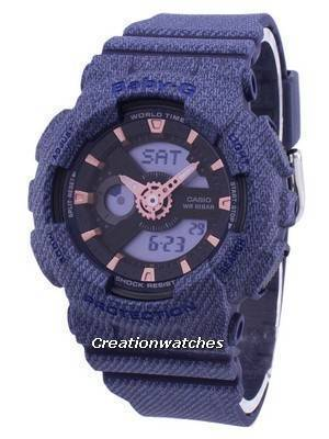 Casio G-Shock Baby-G World Time Analog Digital BA-110DE-2A1 BA110DE-2A1 Women's Watch