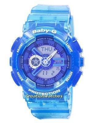 Casio Baby-G Shock Resistant World Time Analog Digital BA-110JM-2A BA110JM-2A Women's Watch