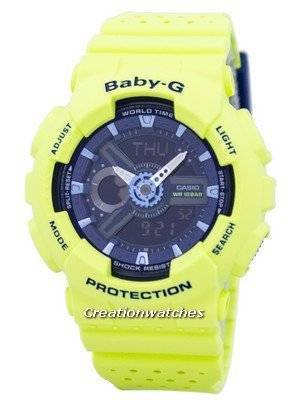 Casio Baby-G Shock Resistant World Time Analog Digital BA-110PP-3A Women's Watch
