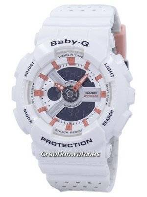 Casio Baby-G Shock Resistant World Time Analog Digital BA-110PP-7A2 Women's Watch