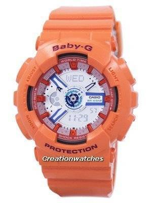 Casio Baby-G World Time Shock Resistant Analog Digital BA-110SN-4A BA110SN-4A Women's Watch
