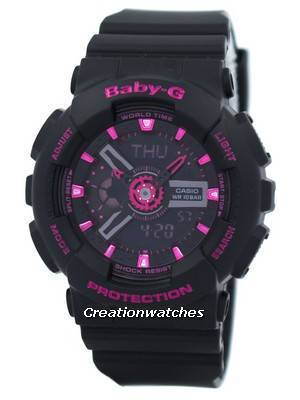 Casio Baby-G World Time Analog-Digital BA-111-1A BA111-1A Women's Watch