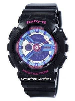 Casio Baby-G World Time Analog Digital Multicolor Dial BA-112-1A Women's Watch