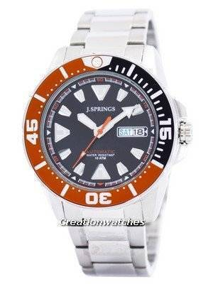 J.Springs by Seiko Sports Automatic Black Dial 100M BEB078 Men's Watch