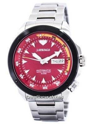 J.Springs by Seiko Sports Automatic Red Dial 100M BEB084 Men's Watch