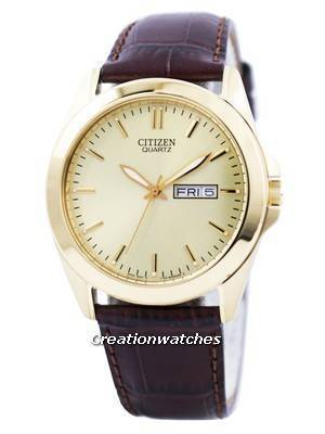 Citizen Quartz Gold Tone Analog BF0582-01P Men's Watch