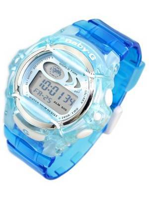 Casio Baby-G Jelly Alarm World Timer Watch BG-169A-2CVDR BG169A