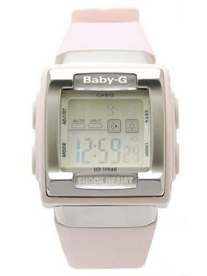 Casio Baby-G Square Pink Shock Resistant Ladies Watch BG-180-4DR