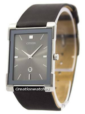 Citizen Quartz Slim Black Leather BG5080-05H Women's Watch